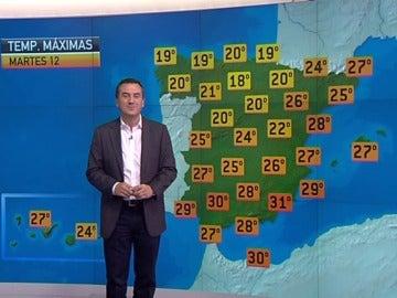 La previsión del tiempo, 11-06-2012, noche
