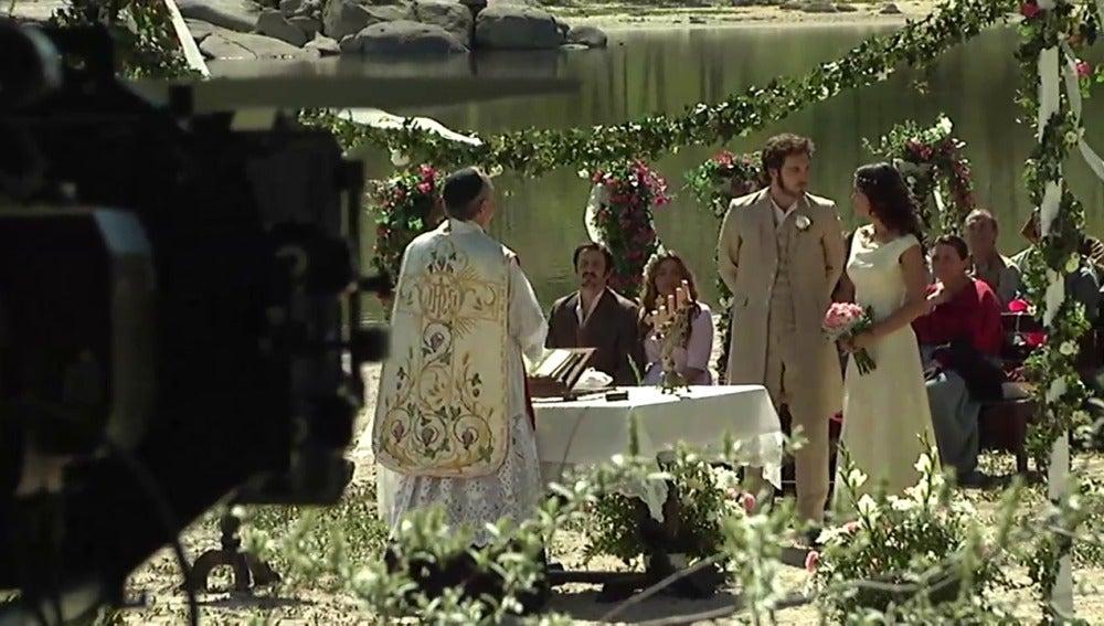 Así se grabó la boda de Tristán y Pepa