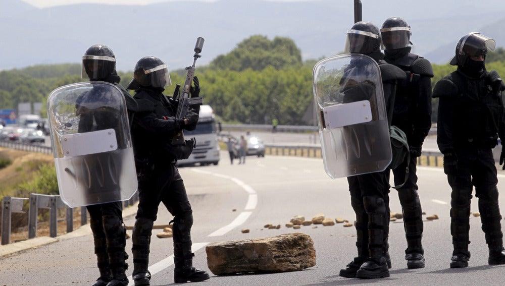 Protestas mineras en León y Asturias