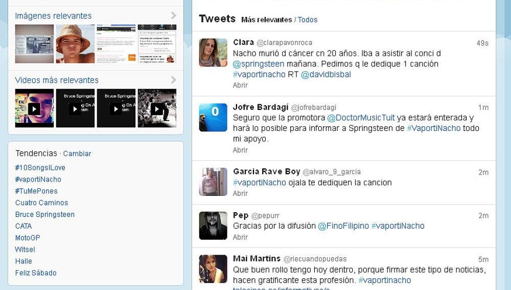 Piden en twitter un homenaje de Springsteen a un fan fallecido