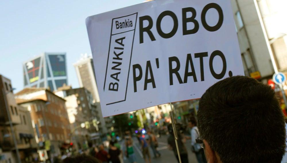 Manifestación contra el rescate de Bankia