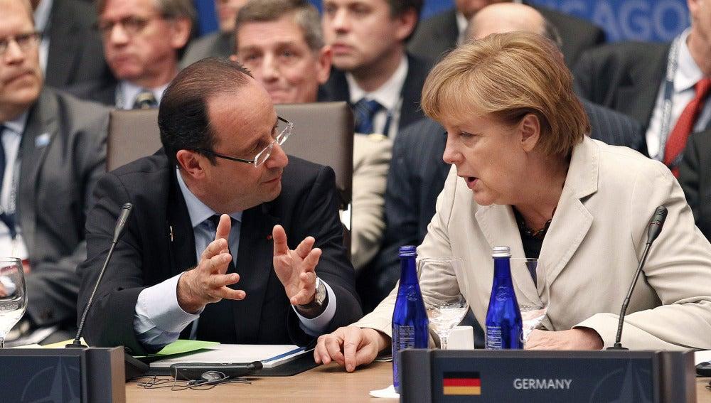 Hollande y Merkel, en una imagen de archivo