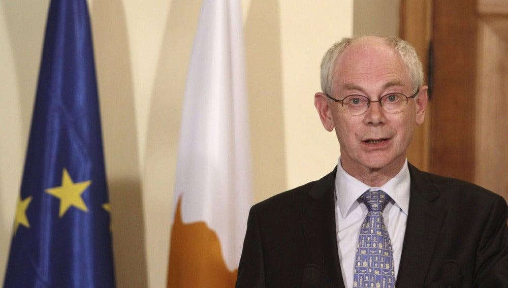El presidente del Consejo Europeo, Herman Van Rompuy