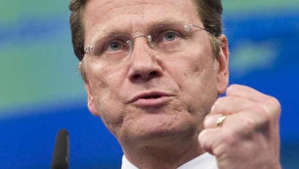 El ministro de Exteriores alemán, Guido Westerwelle
