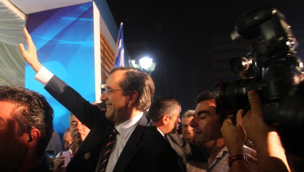 El líder de Nueva Democracia (ND), Andonis Samarás