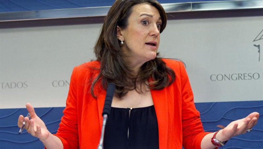 Soraya Rodríguez en la Junta de Portavoces
