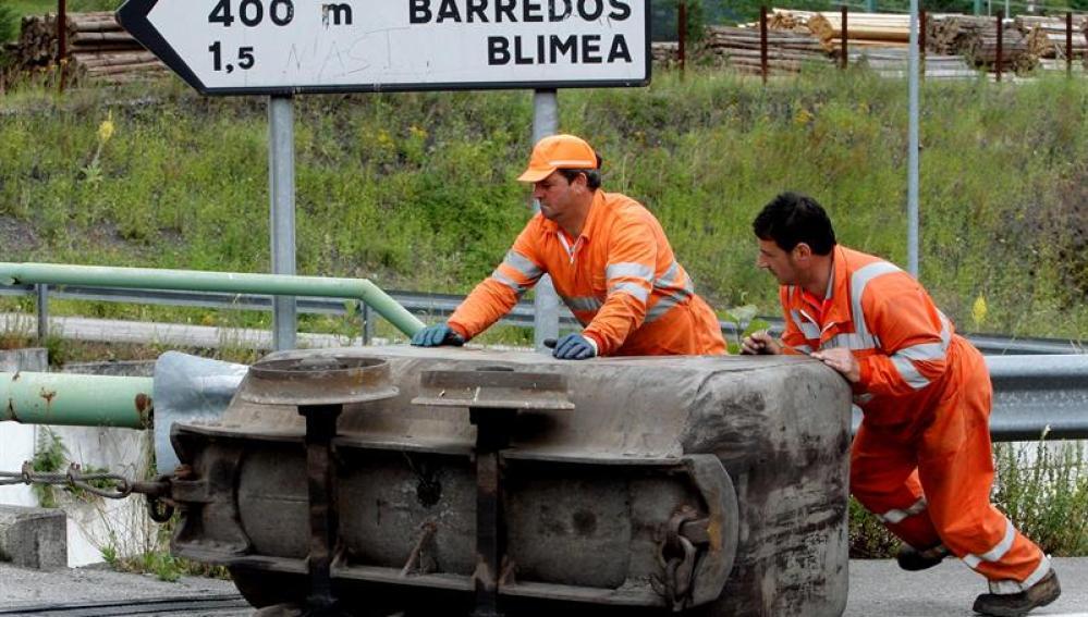 Barricada en Asturias