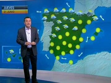 La previsión del tiempo, 20-06-2012, noche