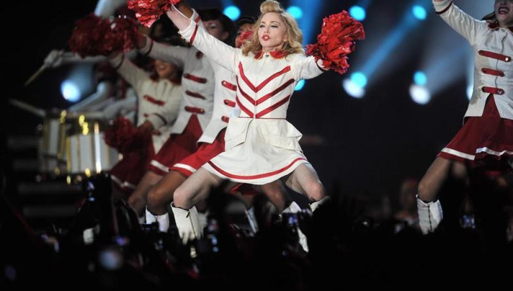 La cantante estadounidense Madonna durante la gira