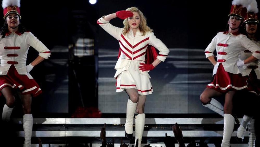 La cantante Madonna, durante el concierto