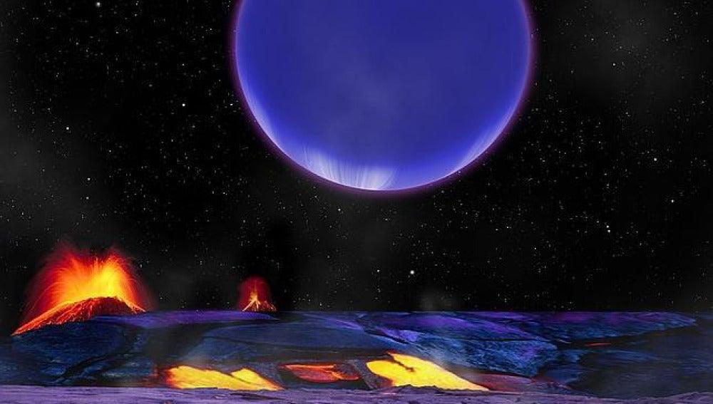 El planeta Kepler-36c visto desde Kepler-36b