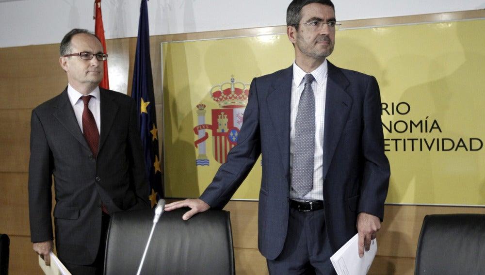 Fernando Jiménez Latorre y el subgobernador del Banco de España, Fernando Restoy