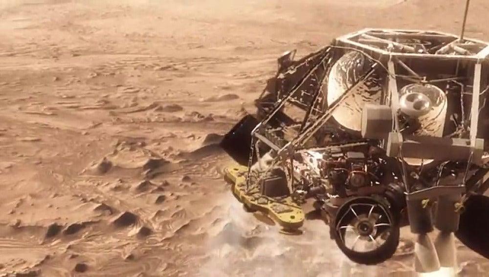 Recreación del Curiosity en Marte