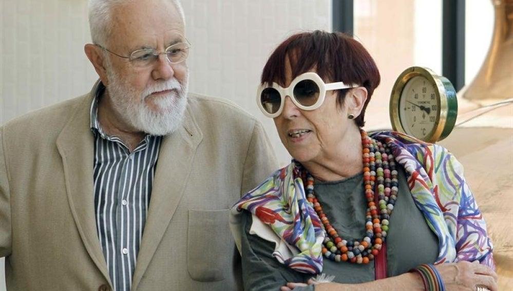 Los premiados Gonzalo Suárez y Maruja Torres.