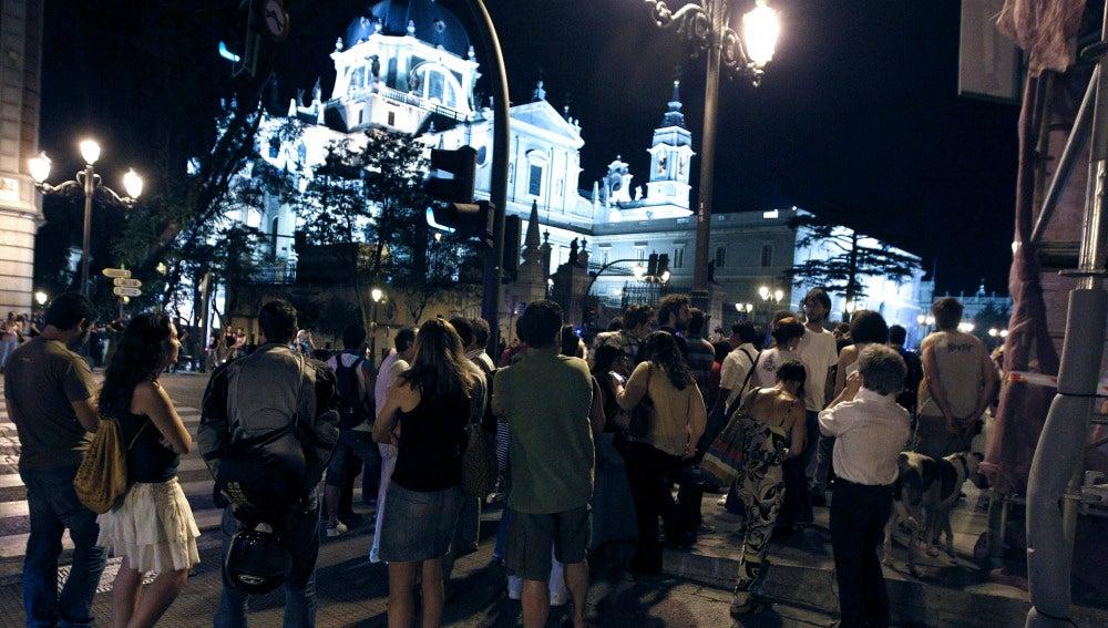 Desalojan la Catedral de la Almudena