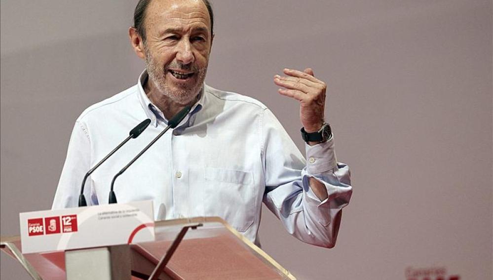 Rubalcaba en la clausura del Congreso Regional de Canarias