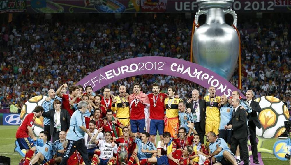 España celebra su segunda Eurocopa