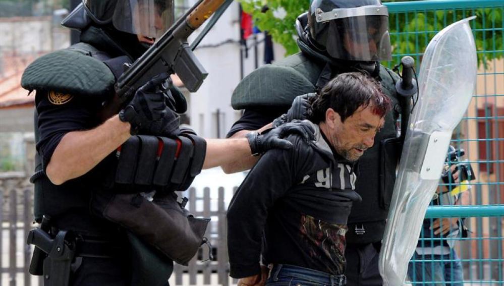 Dos detenidos en las protestas mineras de León