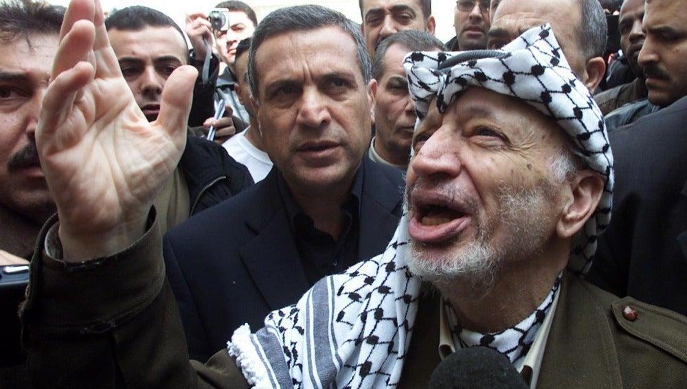 Yaser Arafat, líder palestino