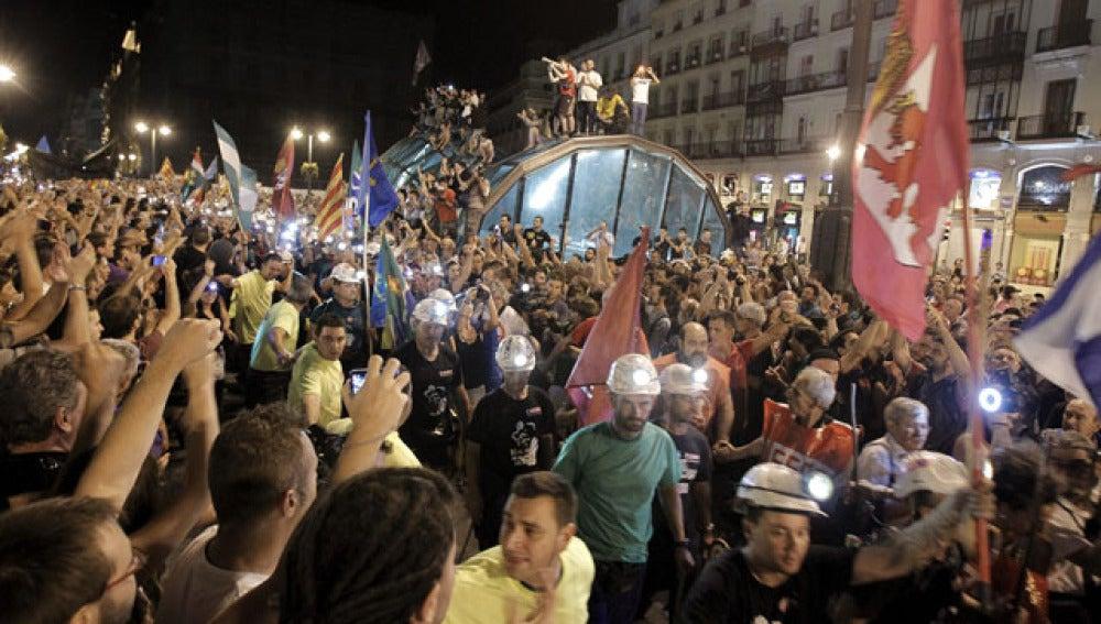 Mineros en la Puerta del Sol