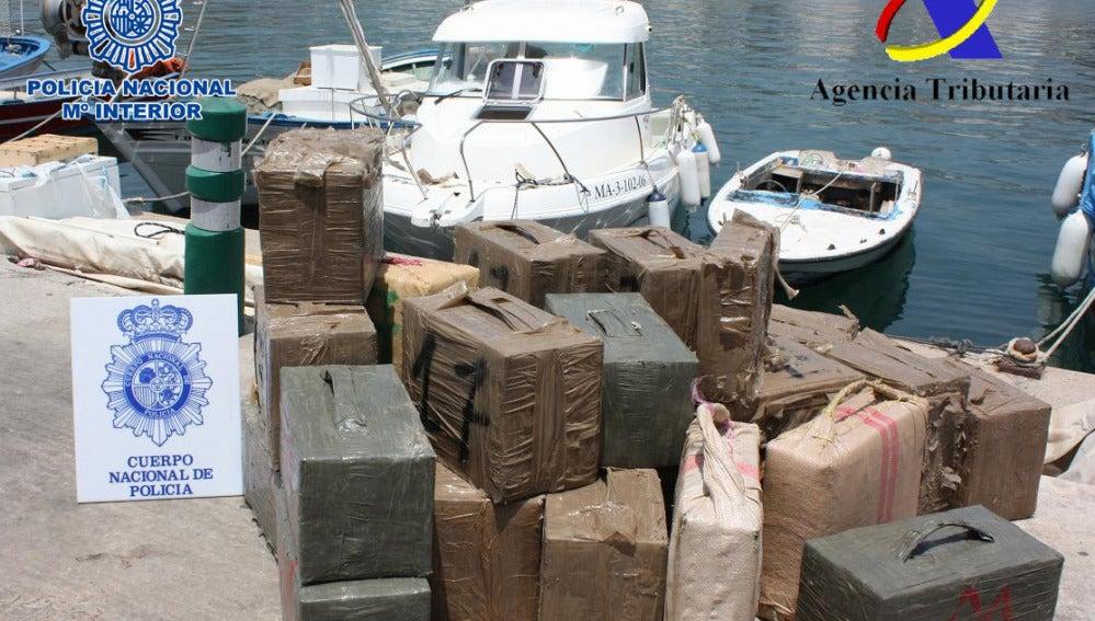 Interceptados 840 hilos de hachís en Marbella