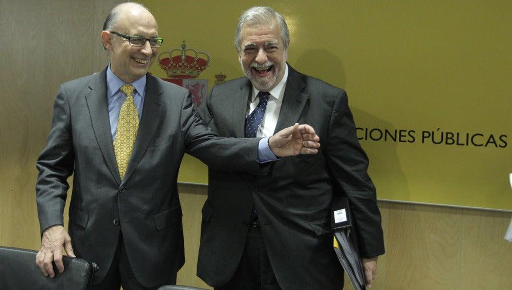 Cristóbal Montoro y Antonio Beteta