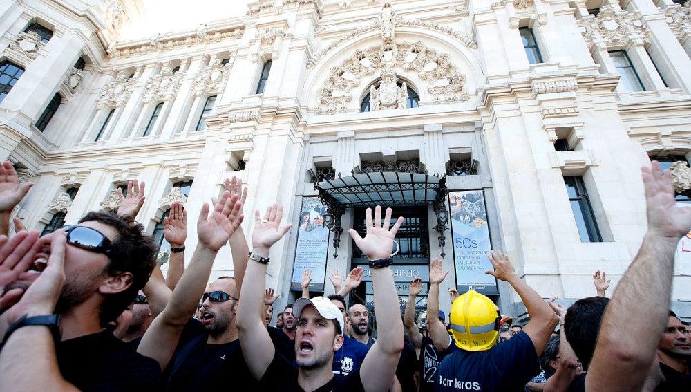Concentración de funcionarios en Madrid