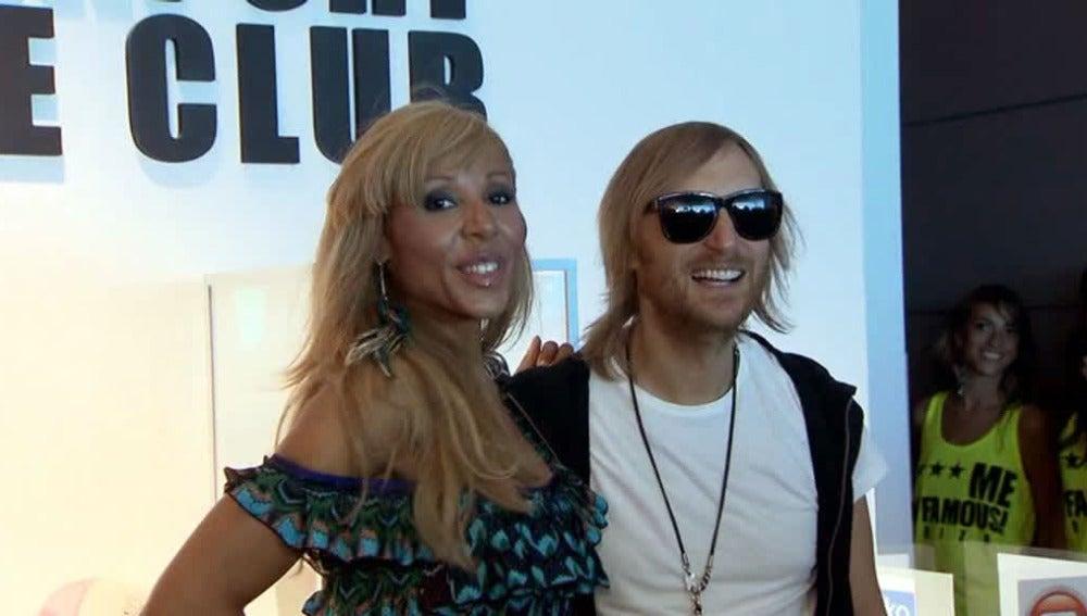 Cathy y David Guetta en Ibiza
