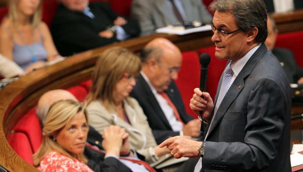 Artur Mas en el pleno extraordinario de control al Govern