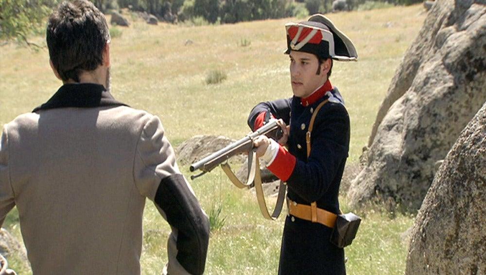 Jairo descubre a Elías con los caballos robados