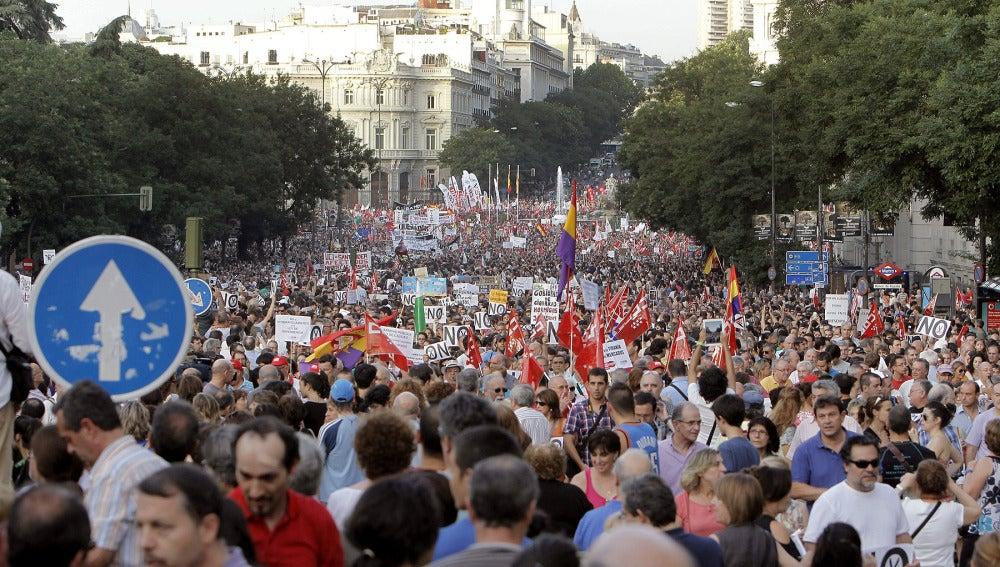 Imagen de la pasada manifestación contra los recortes (Archivo)