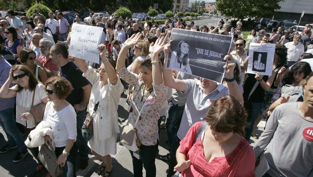 Protesta de funcionarios en Santiago de Compostela (Archivo)