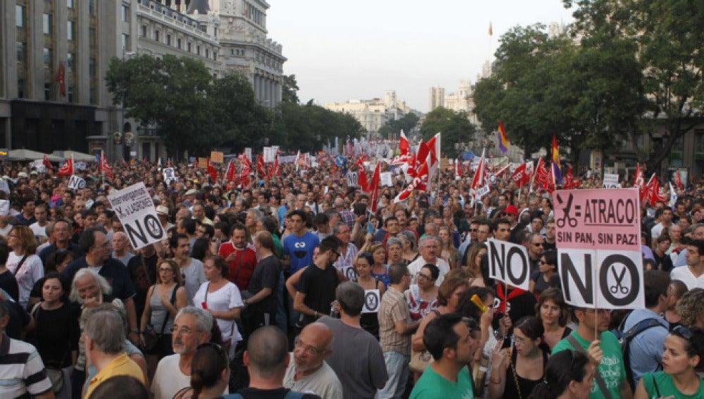 Manifestación en el centro de Madrid