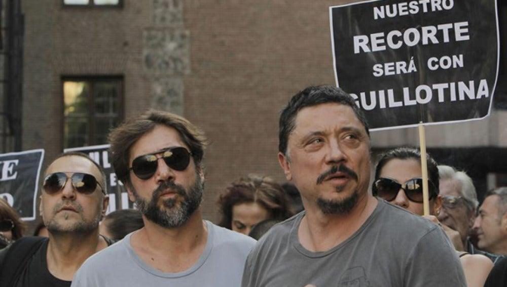 Los actores Carlos y Javier Bardem