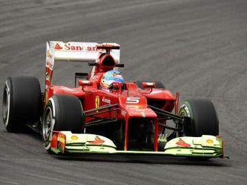 Alonso, con parafina en Hockenheim