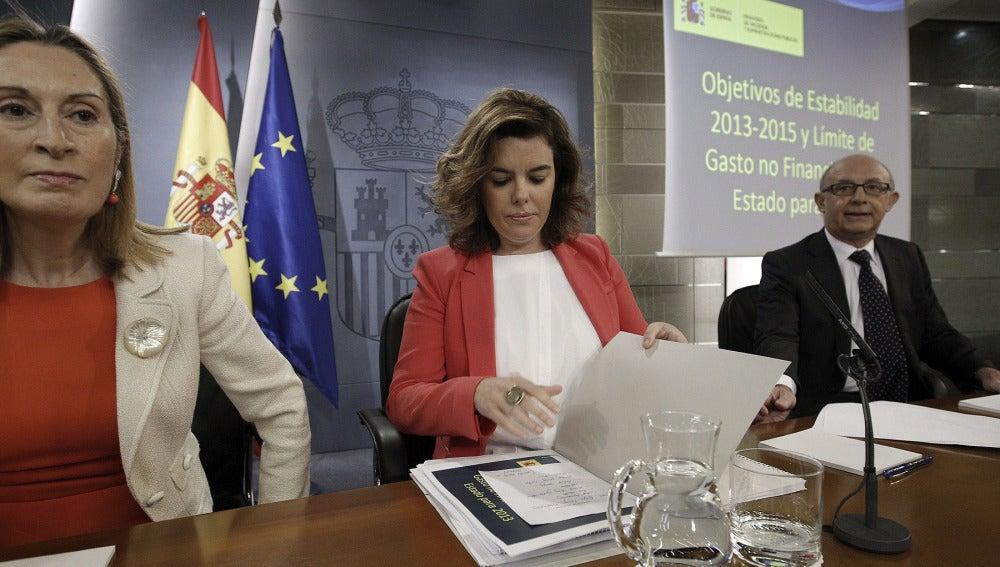 Soraya Sáez de Santamaría en el Consejo de Ministros