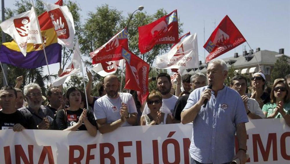Cayo Lara encabeza las protestas