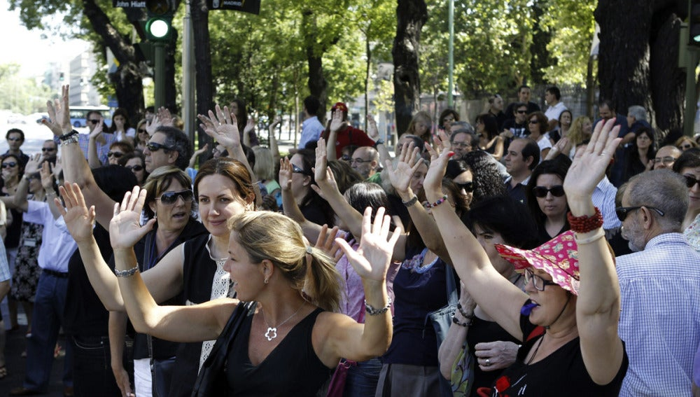 Nuevas protestas de los funcionarios públicos en Madrid