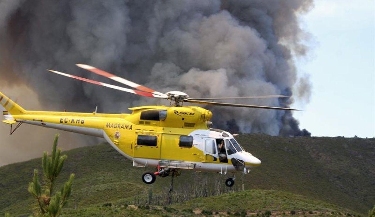 Un incendio en la comarca de Las Hurdes obliga a evacuar a 30 vecinos