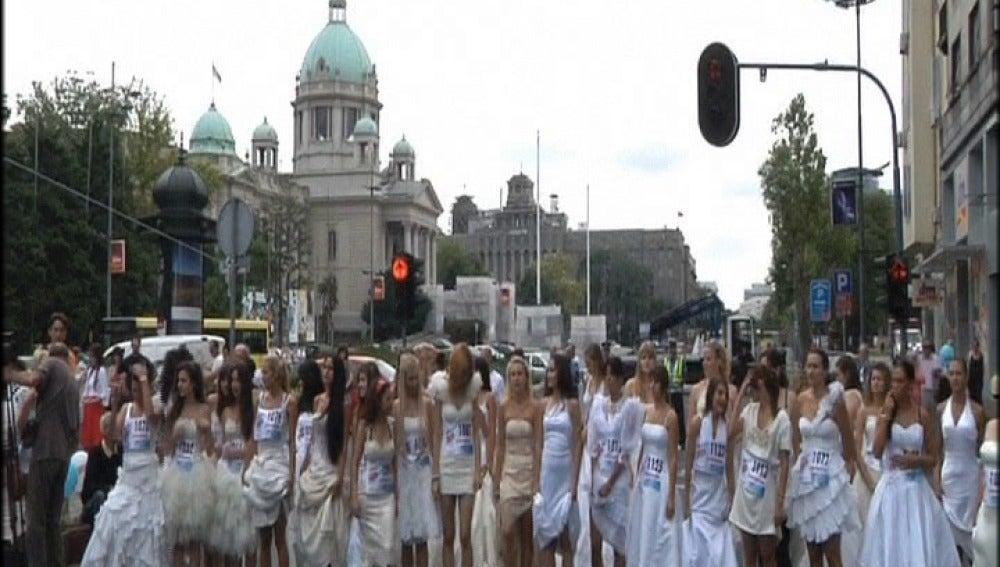 Carrera de novias en Serbia