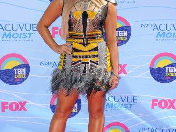 Demi Lovato lució nuevo look en la gala de los Teen Choice