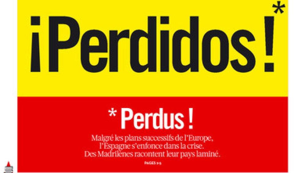 Portada de Liberation sobre España