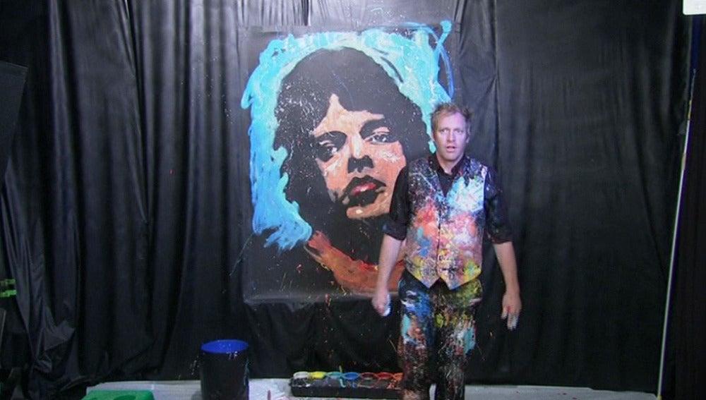 Retrato de Mick Jagger