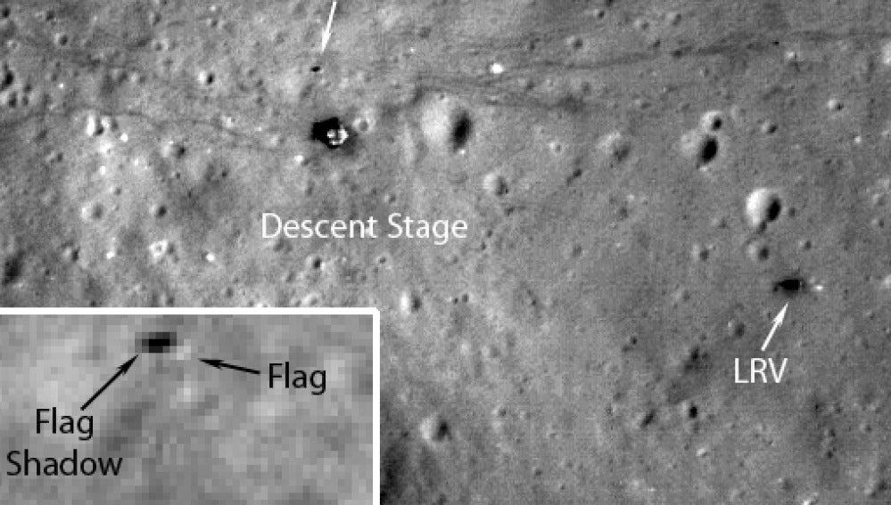Imágen de la superficie en la que estuvo estacionado el módulo espacial Apollo 17