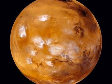 En la imagen de archivo, el planeta Marte en una fotografía facilitada por la NASA.