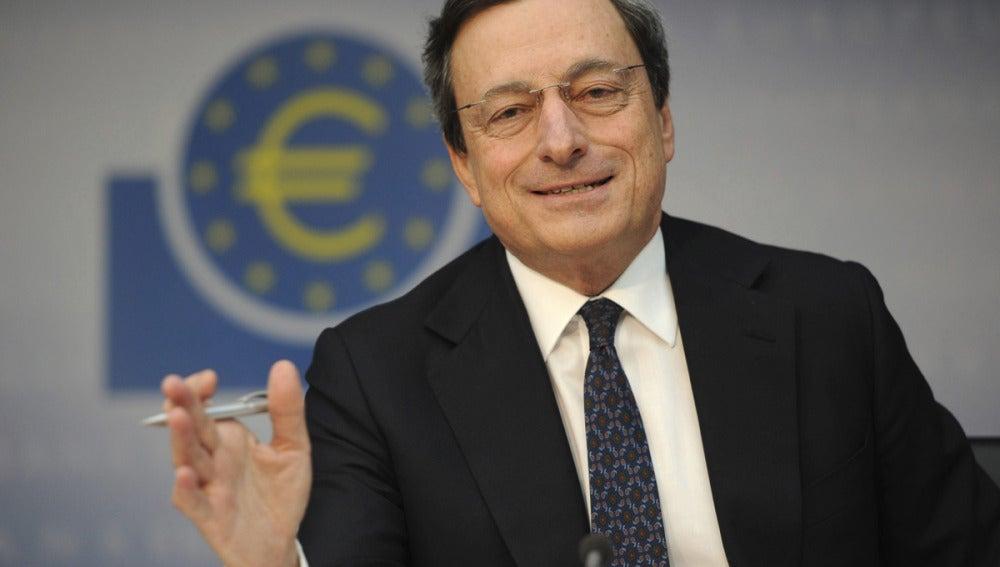 Mario Draghi tras la reunión del BCE