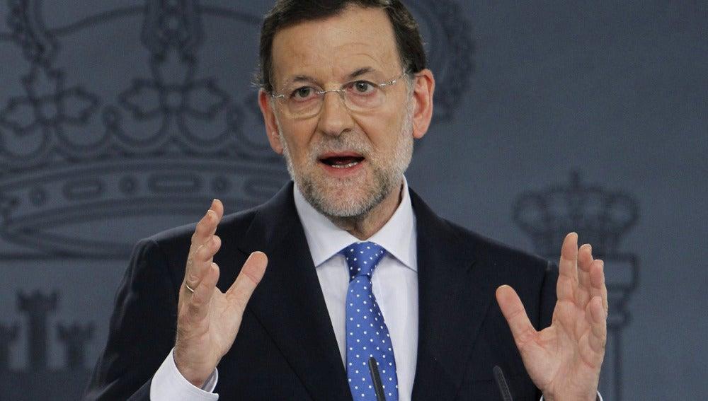 Mariano Rajoy, en rueda de prensa