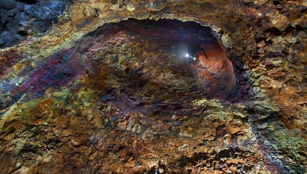 Fotografía por dentro del volcán Thrihnukagigur, en Islandia