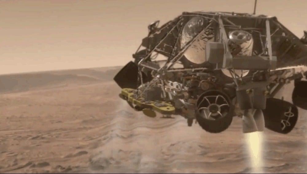 Aterrizaje del Curiosity