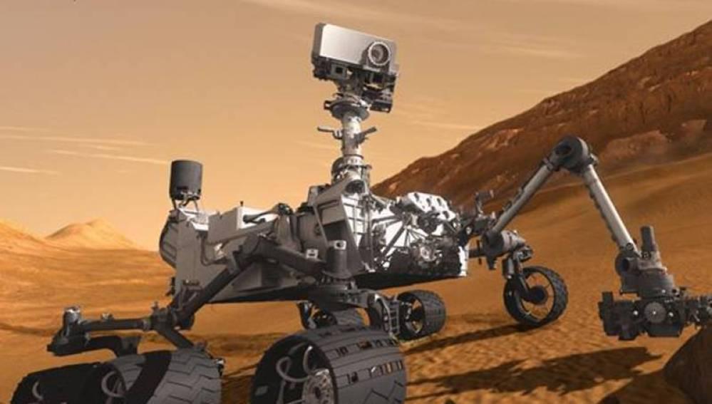 Imagen de 'Curiosity' en Marte